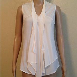 ETCETERA ivory sleeveless blouse, size 2